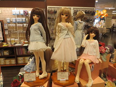 Volks Store (Visit #1) (RequiemArt.com) Tags: dollfie dream volks store sister akihabara akiba dollpoint japan tokyo dcoord choice anastasia saber vocaloid luca