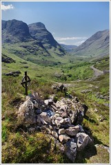 Ralston Cairn Glen Coe Scotland (Ben.Allison36) Tags: ralston cairn glen coe scotland memorial glencoe celtic cross