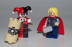 HAMMER TIME ! (kingkong21) Tags: harleyquinn thor dccomics marvel lego