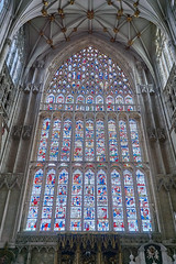 York Minster Great East Window (warner_pics) Tags: york yorkminster window stainedglass expensive restoration visityork yorkshire minster building cathedral medieval gothic