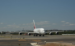 Fly Emirates.... (Pieter dB2 (on / off)) Tags: madrid madridbarajasairport airbus airbusa380 a380 airport emirates