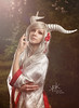 Fotocon 2017: Luka Costume Artist as Yomigami from Okami, by SpirosK photography (SpirosK photography) Tags: spiroskphotography fotocon fotocon2017 fotoconbytechland fotoconbytechland2017 lukacostumeartist luka yomigami anthropomorphic dragon portrait beautiful poland wlen palacwlen hotel garden game videogame videogamecharacter horns cosplay costumeplay costume