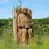 Rudyard Kipling (Geoff Henson) Tags: carving sculpture garden grass flowers hedge sky clouds