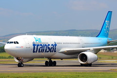 30 Years of Air Transat (C-GKTS) (Fraser Murdoch) Tags: cgkts air transat ts tsc 149 dublin glasgow international airport gla egpf dub eidw cyyz yyz airbus a330300 a333 333 330 330300 heavy 30 years ans special livery colour scheme scotland aviation aircraft fraser murdoch photography canon eos 650d summer sun schedule blue new
