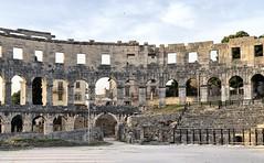 City behind the wall (aiva.) Tags: croatia istria pula hrvatska coliseum arena sunset ruins ancient istra balkan amphitheater jadran adriatic antic architecture