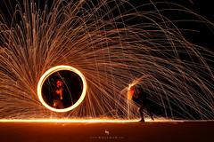 Steelwool (hisalman) Tags: steelwool fire spinner northrasalkhaimah unitedarabemirates ae steel wool steelwoolphotography hisalman salmanahmed adventure