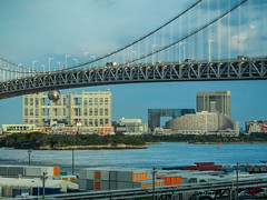 Looking Odaiba from Yurikamome (Eshke04) Tags: odaiba tokyo yurikamome bay harbour buildings architecture port sky rainbow bridge