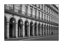 Paris - Rue de Rivoli (2) (Toon E) Tags: 2018 france paris ruederivoli louvre musee centre city streetlights black white blackandwhite sony 7rm2 zeiss sonyfe2470mmf4
