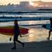Sunset Surfers (adzman_808) Tags: porto portugal portolight matosinhos surfer surfers sunset sea seaside beach beachlife leica leicam9 m9p m9 summicron summicron50