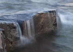 Falling Water (magdaolson) Tags: longexposure lakesuperior minnesota rocks waves grandmarais