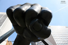 Looking At Things From A Different Angle (DetroitDerek Photography ( ALL RIGHTS RESERVED )) Tags: allrightsreserved detroit 313 downtown urban city status fist joelouis tribute sportsillustrated boxer icon midwest michigan usa america male legend hand detail canon rebel eos archive nothdr detroitderek view under up motorcity motown may 2018