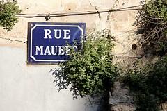 Rue Maubec (just.Luc) Tags: streetsign straatnaambord plaquederue bordeaux gironde nouvelleaquitaine sign france frankrijk frankreich francia frança europa europe blue blauw bleu blau azul green groen vert grün mur wall mauer