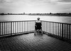 The Loneliness of Life (Abdalis_3k60) Tags: elder woman blackandwhite mobilephotography huawei dusseldorf rhine loneliness street streetphotography