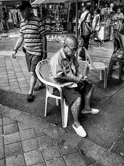That Pipe Man ! (-Faisal Aljunied - !!) Tags: tattoos chinesepipe streetphotography faisalaljunied