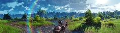 """""""Nature always wears the colors of the spirit."""" (Xenolith3D) Tags: witcher3wildhunt thewitcher forest wood tree sky roach screenshot hd 4k pc panorama nvidiaansel nvidia virtualphotography novigrad colorful nature photomode gamephotography geraltofrivia wolf fantasy geralt"""
