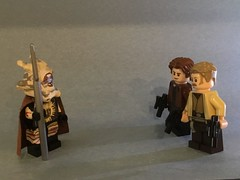 """""""You must of known you'd see me again!"""" (Unkar's Thug) Tags: lego star wars solo story tobias beckett"""