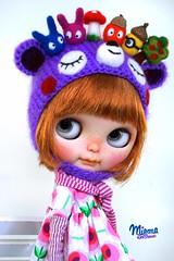 custom order (Miema) Tags: miema miemadollhouse blythe helmet handmade outfitmiemahandmade hat cap girl doll puppe