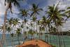 Tropical peninsula around Mirissa Bay (Tim&Elisa) Tags: srilanka mirissa asia canon palmtree indianocean island trees tropical ocean waves water sky clouds landscape seascape nature beach peninsula