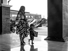 Family mudik (A. Yousuf Kurniawan) Tags: mudik family mother monochrome minimalism minimalist terminal bus busstop children blackandwhite streetphotography urbanlife borneo kalimantan decisivemoment hdr palangkaraya