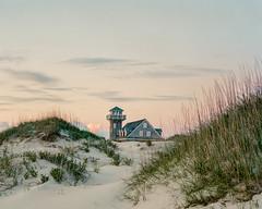 OBX Life Saving Station (PeterStout) Tags: obx pentax6x7 pentax105 sunrise beach