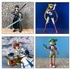 Battle Poses (Sasha's Lab) Tags: batte pose sword wand staff squirt gun anime kirito art online sailor moon magical lyrical girl nanoha yotsuba