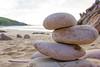 Steine am Strand.. (yellyscreen) Tags: balance beach blau blauerhimmel einsam felsen himmel landschaft meer ocean rosé ruhe ruhig sand simple steine strand zen