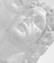 Dreadful statues rise_IMG_0995i (AchillWandering) Tags: art ancient blackandwhite bw mono monochrome helikon statue baphyras dion pieria macedonia greece marble sculpture perspective pointofview