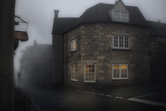 Foggy evening in the Cotswolds (David_Monaghan) Tags: england village cotswolds gloucestershire britain travel mist fog foggy quaint moody