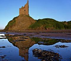 Greenan Castle Reflections (matthewblackwood10) Tags: green an castle reflections reflection ruin cliff pool beach san sea ocean seascape seaweed rocks sky moon lunar