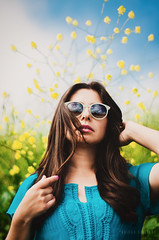 Claudia en la primavera (*KIKITA*) Tags: claudia fineartportraiture losangeles southbay southbayportraitphotographer blueshirt brownhair brunette chilean erickagiulianiphotography female field flowers free fresh human latina longhair mujer nature person southamerican spring summer sunglasses woman young primavera yellow green plants blueskies