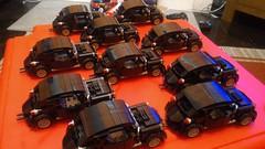 first batch (barneysharman) Tags: kdf wagen vw beetle black camper lego car moc