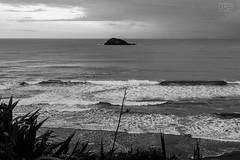 Stormy sky (RichaGandhi) Tags: muriwai beach westauckland auckland newzealand sea ocean blackandwhite monochrome bnw nature naturelover wanderlust wanderer traveller