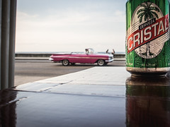 Havanna (gies777) Tags: kuba cuba havanna havana habana lahabana malecon auto oldtimer uscar cabriolet cabrio olympus omd em5 mft karibik caribbean bier bierdose beer cerveza cristal