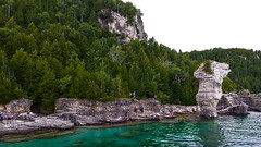 Flowerpot Island, Tobermory Ontario (MariaMargy) Tags: tobermory park ontario canada rock flowerpot water nature trees outside explore exploration summer samsung island green forest travel