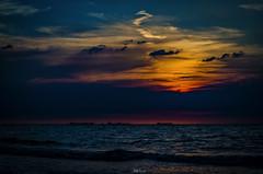 Adrenalina Caribe...!!! (Nita_Fotos) Tags: sun sundown clouds blue orange sol atardecer nubes naranja cielo mountain montañas reflection reflejos trees arboles agua backligh contraluz • barcos botes ships lecheria venezuela tuniñasalvajedelaselva