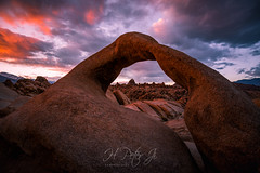 Like embers of coal on hearth (ScorpioOnSUP) Tags: a7iii alabamahills easternsierra mobiusarch sierranevada sony ablaze adventure arch backcountry clouds dark dramatic dusk landscape landscapephotography mountains nature outdoors rockformations seekingsolitude snowcladmountains sunset sunsetglow tranquility wilderness