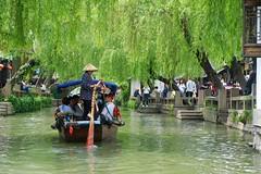 Ferrywoman in Zhou Zhuang (lhongchou's photography) Tags: suzhou jiangsu jiangnan china xt1 fuji fujifilm fuji1855f284