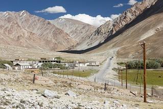 Jelondy village on the Pamir Highway