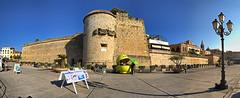 IMG_3310_IMG_3315-6 images Alghero (Sassari). I bastioni (Giovanni Pilone) Tags: alghero sassari sardegna torre bastioni porto città city mura cielo edificio azzurro azul sky pano panorama stitch stitched