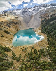Just saw Blue Lake, CO on the front page, so thought I'd share my aerial view of the same [OC][3750x3000] (-WildPigs-) Tags: reddit earth