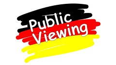Public Viewing in Deutschland (marcoverch) Tags: public germany germanflag deutschland football banner soccer flag illustration business geschäft sign schild symbol desktop design image bild text graphic grafik designing entwerfen vector vektor vectors vektoren achievement leistung isolated isoliert label etikette market markt sale verkauf paper papier disjunct disjunkt mist roses colours shop pose metal island longexposure ship glass viewing farben bundesflagge