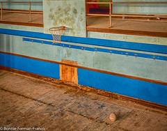 20180523 BASKETBALL COURT and BALL & COOPER SCHOOL_BFF_8511_HDR (Bonnie Forman-Franco) Tags: abandoned abandonedphotography abandonedschool abandonedphoto abandonedphotos abandonedschoolgym abandonedbasketballcourt abandonedbasketball abandonedschoolbuilding photoladybon bonnie photography photographybywomen photos window grating windowgrating hdr basketball basketballcourt nikon nikond750 nikon2470mm