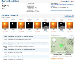 Temperature at Furnace Creek, Death Valley National Park (ThorsHammer94539) Tags: death valley national park