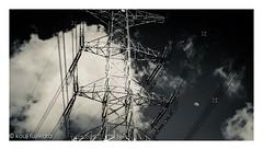half moon ... over the tower #1 (kouji fujiwara) Tags: fujifilmxt2 fujifilm xt2 fujinon xf1655mm xf1655mmf28 f28 tower moon halfmoon half fineart blackandwhite noir monochrome