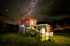 Cabin in the Cosmos (jenkwang) Tags: pentax k1 samyang 1428 14mm f28 landscape astro tracer milky way night kurow new zealand alps ocean trail cycle bike touring