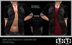 Jacket Jeans Black (konmagic) Tags: store secondlife sl mesh model brasil bodymesh kml fitedmesh jeans
