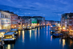 Venice at night (Bernhard Sitzwohl) Tags: venice grandcanal night bluehour view vantagepoint italy travel epic lights