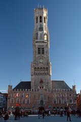 Belfry of Bruges in daylight (Phil Heneghan) Tags: dsc9785 bruges belgium february 2018 westflanders winter city markt square belltower medieval tower belfry belfort halletoren towerofthehalls marktbruges belfryofbruges belfortvanbrugge landmark nikond7020180215to16 brugge
