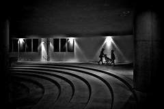 Serenity of mind (明遊快) Tags: blackandwhite light art dark peace contrast shadows silhouette monument people lines monochrome round circle japan