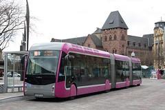 Mettis: Van Hool Exqui.City 24 Diesel Hybrid Doppelgelenkbus 1307 am Bahnhof Metz (Helgoland01) Tags: bus france frankreich metz lorraine lothringen